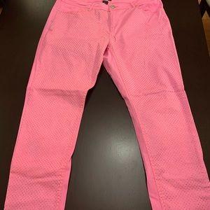 Pink with gold polka dot pants